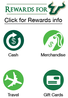 Rewards for USF. Click for rewards info. Cash, Merchandise, Travel, gift cards